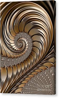 Bronze Scrolls Abstract Canvas Print by John Edwards