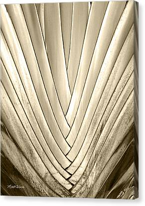 Bronzed Palm Canvas Print by Michelle Wiarda