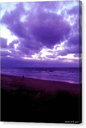 Canvas Print featuring the photograph Brooding Clouds II by Amanda Holmes Tzafrir