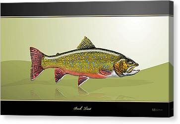 Speckled Trout Canvas Print - Brook Trout by Serge Averbukh