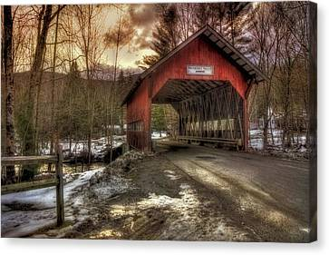 Brookdale Covered Bridge - Stowe Vt Canvas Print