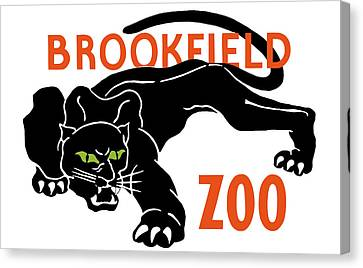 Brookfield Zoo Wpa Canvas Print by War Is Hell Store