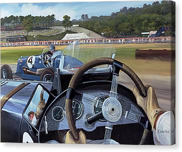 Brooklands - From The Hot Seat Canvas Print by Richard Wheatland