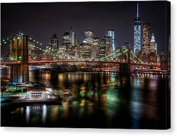 New York City Skyline From Brooklyn Canvas Print