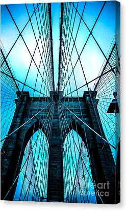New York New York Com Canvas Print - Brooklyn Blues by Az Jackson