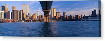 Brooklyn Bridge & Manhattan Skyline Canvas Print by Panoramic Images