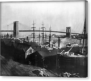 Brooklyn Bridge 1840 Canvas Print by Bill Cannon