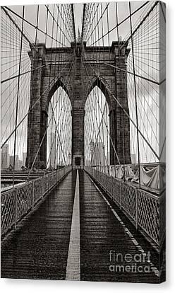 Brooklyn Bridge 3 Canvas Print by Bob Stone