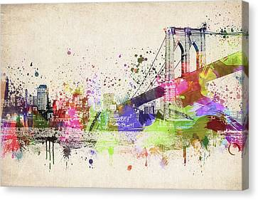 Brooklyn Bridge Canvas Print by Aged Pixel