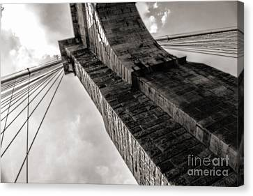 Brooklyn Bridge Canvas Print by Angela DeFrias