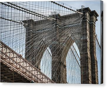 Canvas Print featuring the photograph Brooklyn Bridge by Chris McKenna