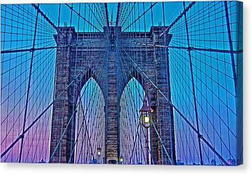 Brooklyn Bridge Dawning Canvas Print by Hanny Heim