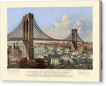 Brooklyn Bridge Canvas Print by Gary Grayson