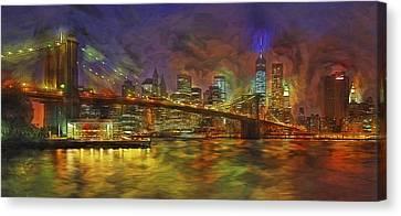 Brooklyn Bridge Impressionism Canvas Print