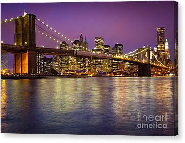 Brooklyn Bridge Canvas Print by Inge Johnsson
