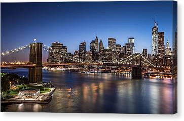 Canvas Print featuring the photograph Brooklyn Bridge by Mihai Andritoiu
