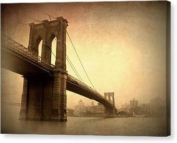 Brooklyn Bridge Nostalgia II Canvas Print by Jessica Jenney