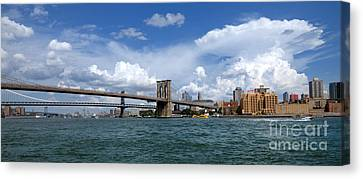 Brooklyn Bridge Panorama Canvas Print by Amy Cicconi