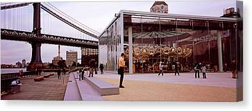 Brooklyn Bridge Park, Janes Carousel Canvas Print by Panoramic Images