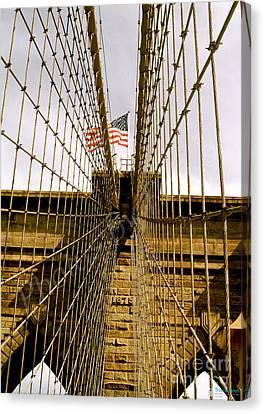 Canvas Print featuring the photograph Brooklyn Bridge by Roseann Errigo
