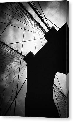 Brooklyn Bridge Silhouette Canvas Print