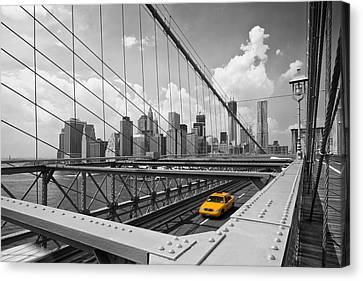 Brooklyn Bridge View Nyc Canvas Print by Melanie Viola