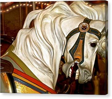Canvas Print featuring the photograph Brooklyn Hobby Horse by Joan Reese