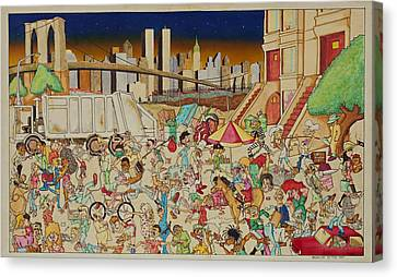 Brooklyn In The 90s Canvas Print by Paul Calabrese