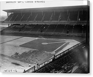 Brooklyn National Grounds Stadium Dodgers  Canvas Print
