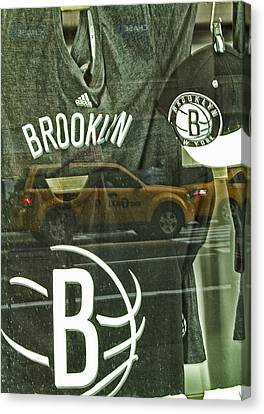 Brooklyn Nets Canvas Print by Karol Livote