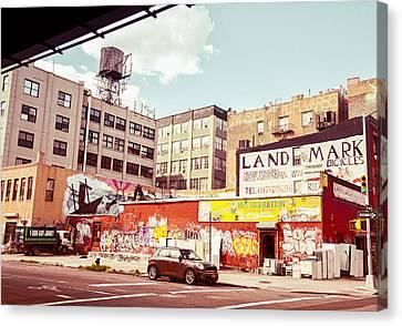 Brooklyn - New York City - Williamsburg Canvas Print by Vivienne Gucwa