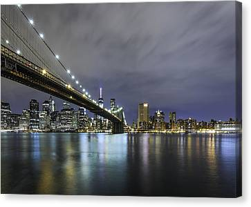 Canvas Print featuring the photograph Brooklyn Nights by Anthony Fields