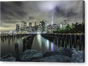 Canvas Print featuring the photograph Brooklyn On The Rocks  by Anthony Fields