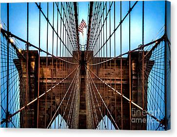 Brooklyn Perspective Canvas Print by Az Jackson