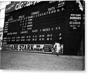 Brooklyn Scoreboard Canvas Print by Retro Images Archive