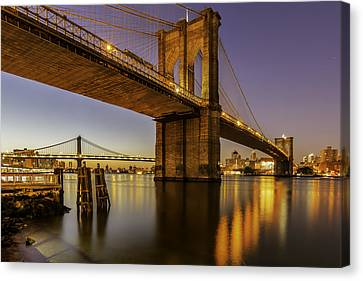 Canvas Print featuring the photograph Brooklyn Sunrise by Anthony Fields