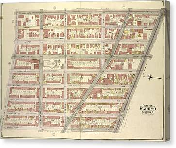 Brooklyn, Vol. 2, Double Page Plate No. 3 Part Of Ward 20 Canvas Print by Litz Collection