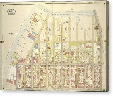 Brooklyn, Vol. 3, Double Page Plate No. 14 Part Of Ward 17 Canvas Print by Litz Collection