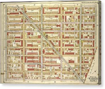 Brooklyn, Vol. 3, Double Page Plate No. 28 Part Of Ward 28 Canvas Print by Litz Collection