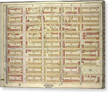 Brooklyn, Vol. 3, Double Page Plate No. 29 Part Of Ward 28 Canvas Print by Litz Collection