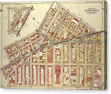 Brooklyn, Vol. 3, Double Page Plate No. 3 Part Of Wards 19 Canvas Print by Litz Collection