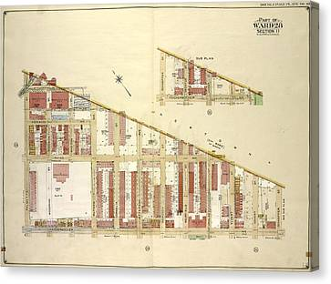 Brooklyn, Vol. 3, Double Page Plate No. 30 Part Of Ward 28 Canvas Print by Litz Collection