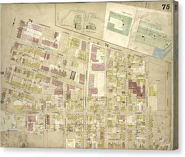 Brooklyn, Vol. 4, Double Page Plate No. 75 Map Bounded Canvas Print by Litz Collection