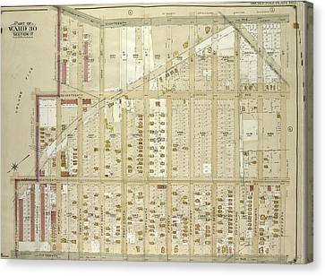 Brooklyn, Vol. 6, Double Page Plate No. 3 Part Of Ward 30 Canvas Print by Litz Collection