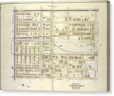 Brooklyn, Vol. 7, Double Page Plate No. 3 Part Of Wards 31 Canvas Print by Litz Collection