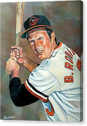 Brooks Robinson Canvas Print by Michael  Pattison
