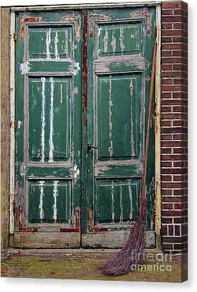 Broom Door Canvas Print