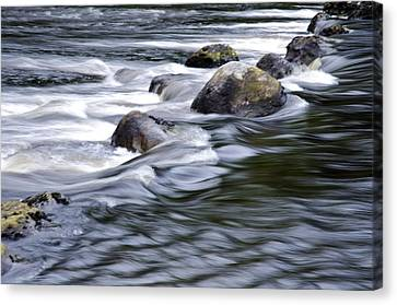 Canvas Print featuring the photograph Brora River Scotland by Sally Ross