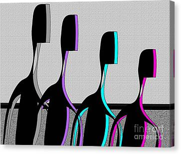 Canvas Print featuring the digital art Brothers by Iris Gelbart
