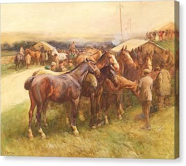 Romany Canvas Print - Brough Hill by John Atkinson